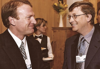 Mark Thompson with Bill Gates