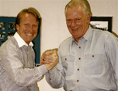 Mark Thompson with Herb Kelleher, Cofounder, Southwest Airlines