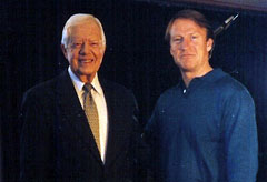 Mark Thompson with Jimmy Carter