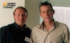 Mark Thompson with Lance Armstrong