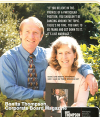 Bonita and Mark Thompson - Corporate Board Magazine