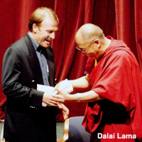 Mark Thompson with the Dali Lama
