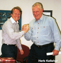 Mark Thompson with Herb Kelleher