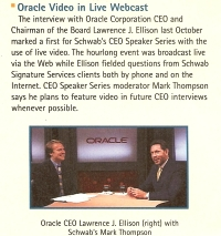 Mark Thompson with Larry Ellison
