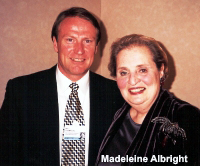Mark Thompson with Madeline Albright